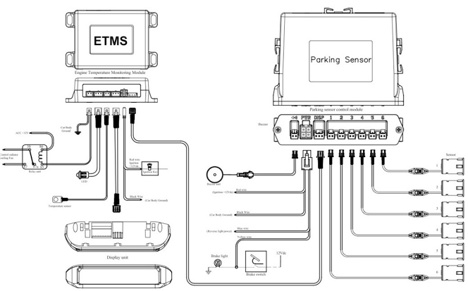 engine temperature monitoring system